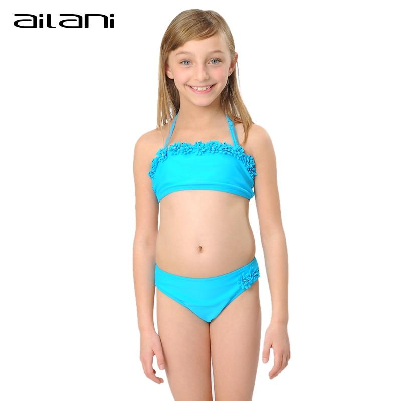New Brand Beachwear Bikini Swimsuit Girls Summer Flower ...