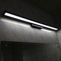 Gương LED lamp Gương mặt trận ánh sáng LED wall đèn phòng tắm đơn giản không thấm nước dresser phòng ngủ bằng nhôm đèn màu đen đèn ZA