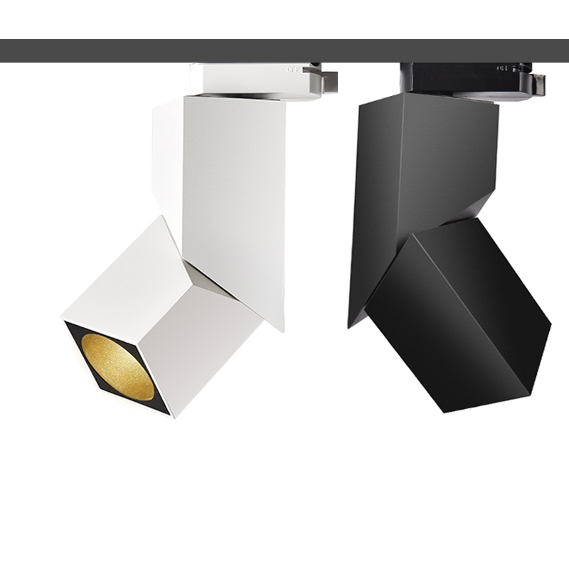 2018 NEW fashion Art cube 7W 12W 15W CREE led track light Adjustable angle Rail lamp backdrop lighting fixture spot lighting