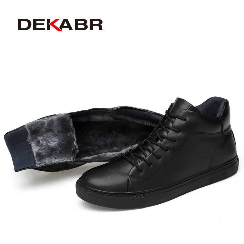 DEKABR 2020 מכירה לוהטת הגעה חדשה בעבודת יד אופנה גברים מגפי קלאסי שחור חורף סתיו מגפי עור אמיתי חם קרסול מגפיים