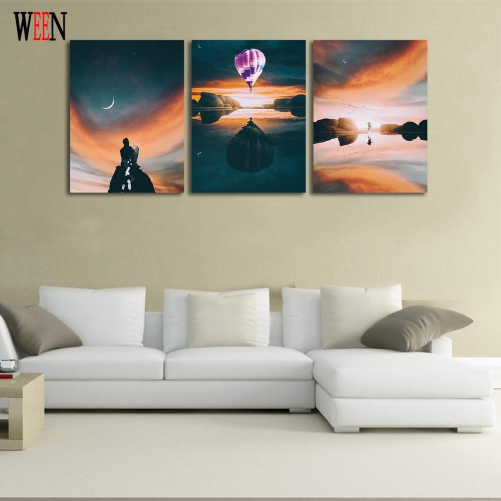 Abstract Wall Canvas Art Painting Pictures For Living Room 3 Piece ...