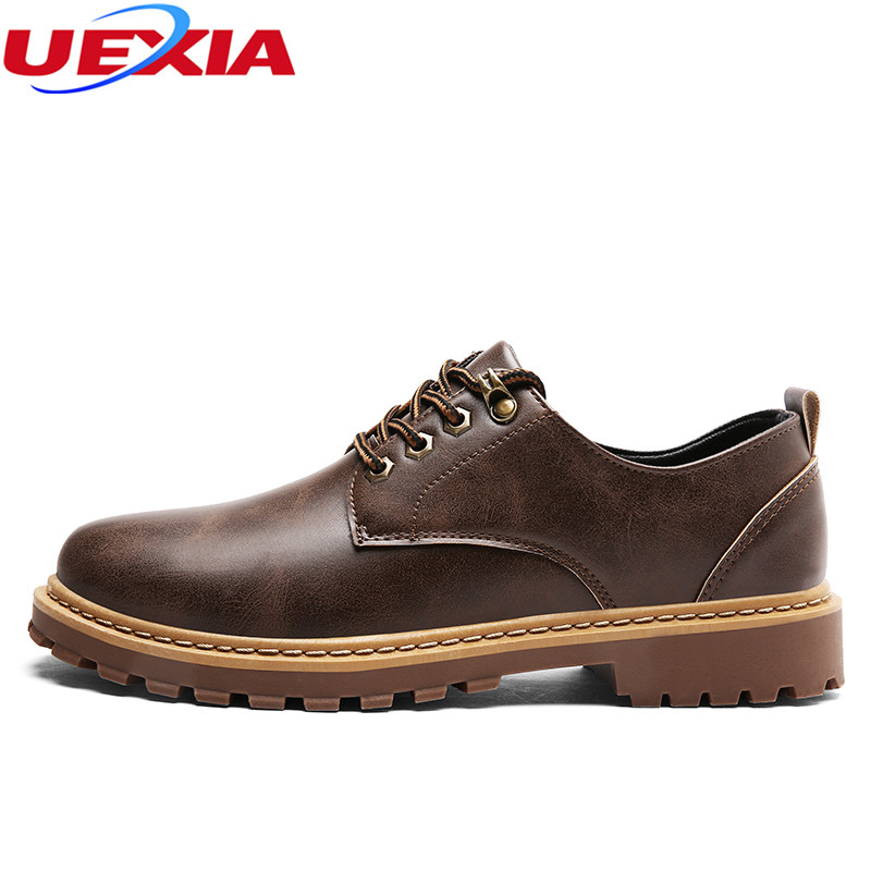 UEXIA Handmade Sewing Men Shoes Casual Shoes Solid Lace-up Retro Breathable Microfiber Patent Leather Flats Shoes Mens Footwear 2017 simple common projects breathable lace up handmade leather shoes casual leather shoes party shoes men winter shoes