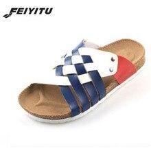 2017 Roman style summer cool man sandals cork shoes men beach slippers,flips flops Size 39-45