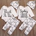 Newborn Infant Baby Boy Girl Kids Deer Outfit Set Long Sleeve Romper Tops + Pants Leggings+ Hat Clothes 3pcs Set Cotton Outfit