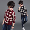 2016 new winter Girls Kids boys Good quality plaid sweater comfortable cute baby Clothes Children Clothing  wholesale
