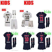 a2d249932 2018 2019 kids kit psg jersey NEYMAR JR MBAPPE DI MARIA 2019 boy child  Paris kids football shirt VERRATTI t-shirt soccer jersey