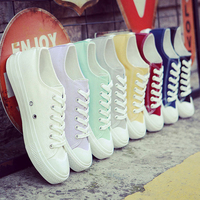 Fashion Spring Summer Sneakers Women Vulcanize Shoes Lace Up Ladies Casual Canvas Shoes Female Leisure Flat