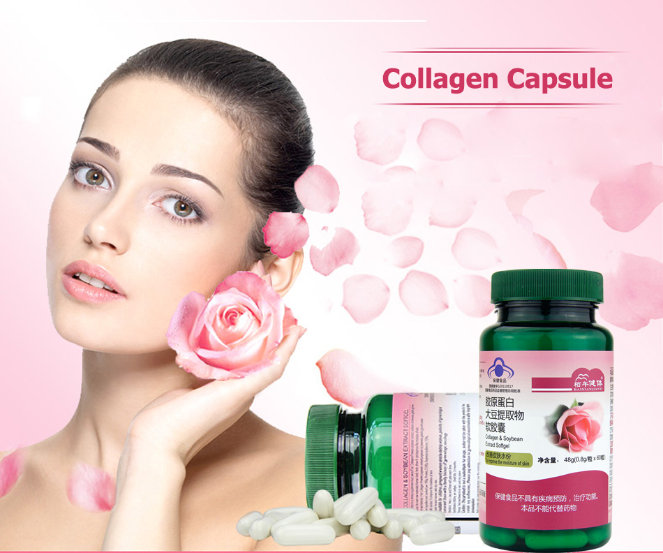 Collagen Soybean Extract Skin Hydration Delay Skin Aging Collagen Peptide Increase Skin Elasticity Whitening Wrinkles in Massage Relaxation from Beauty Health