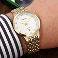 Top Brand Luxury Rhinestone Diamond Watches For Men Full Steel Quartz Watches Gold Thin Mens Watches Classic Relogio Masculino