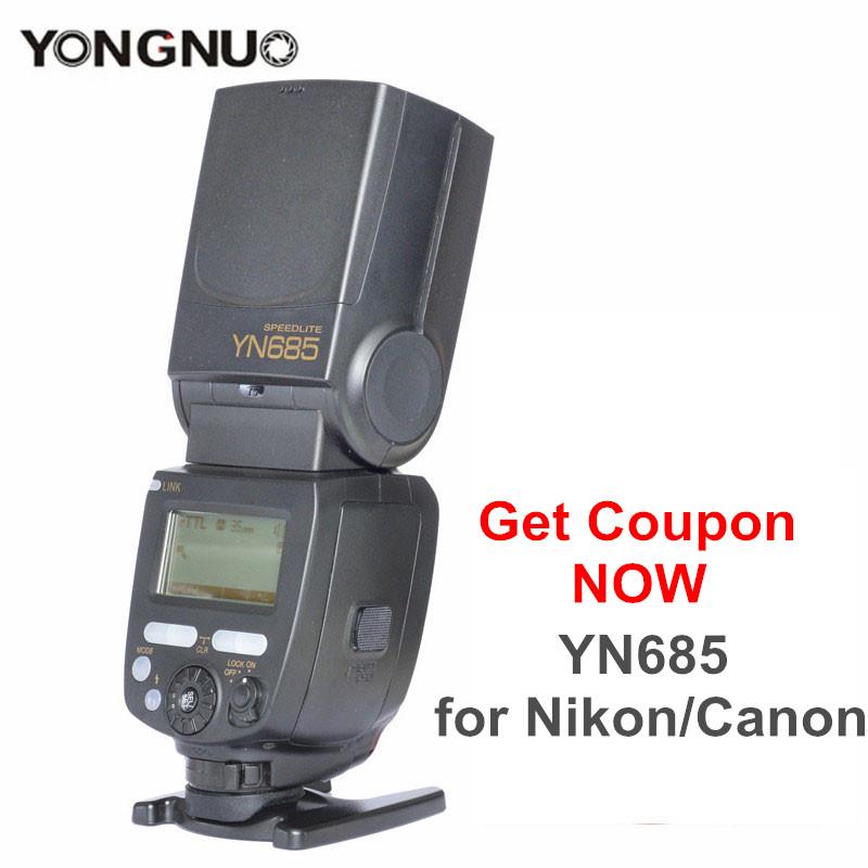 Prix pour Ulanzi yongnuo yn685 gn60 2.4g système sans fil ttl hss 1/8000 s speedlite yn685c yn685n & radio slave pour canon nikon livraison cadeaux