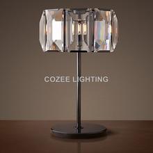 Vintage K9 Crystal Table Lamp Classic LED Desk Light Cristal Table Lighting for Home Hotel Restaurant Living and Dining Room