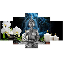 diamond embroidery 5 Pieces Thai Buddha Statue, painting cross stitch,full mosaic picture of rhinestones Z725