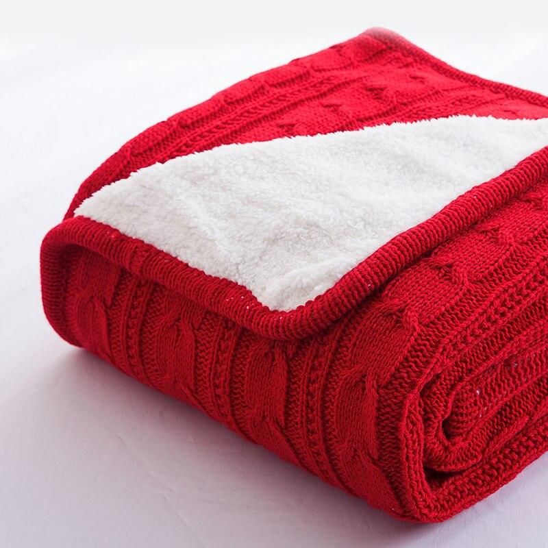 2017 Горячая 100% хлопок высокое качество хлопок одеяло зима теплая вязаная шерстяная блузка диван/покрывало Стёганое вязаное одеяло