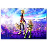 Kingdom Hearts 1 2 3 Art Silk Fabric Poster Print 13x20 20x30inch Hot Game Pictures for Children Room Wall Decoration Gift 031