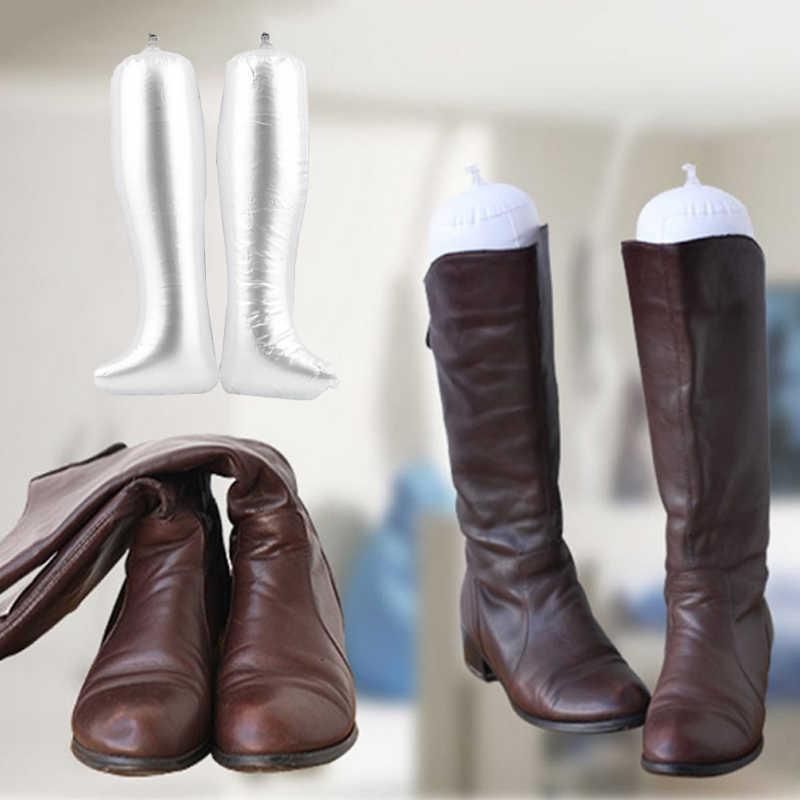 1 пара ТОЛСТАЯ ПВХ креативная надувная обувь поддержка удобный держатель для сапог носилки практичные длинные сапоги подставка держатель гаджет