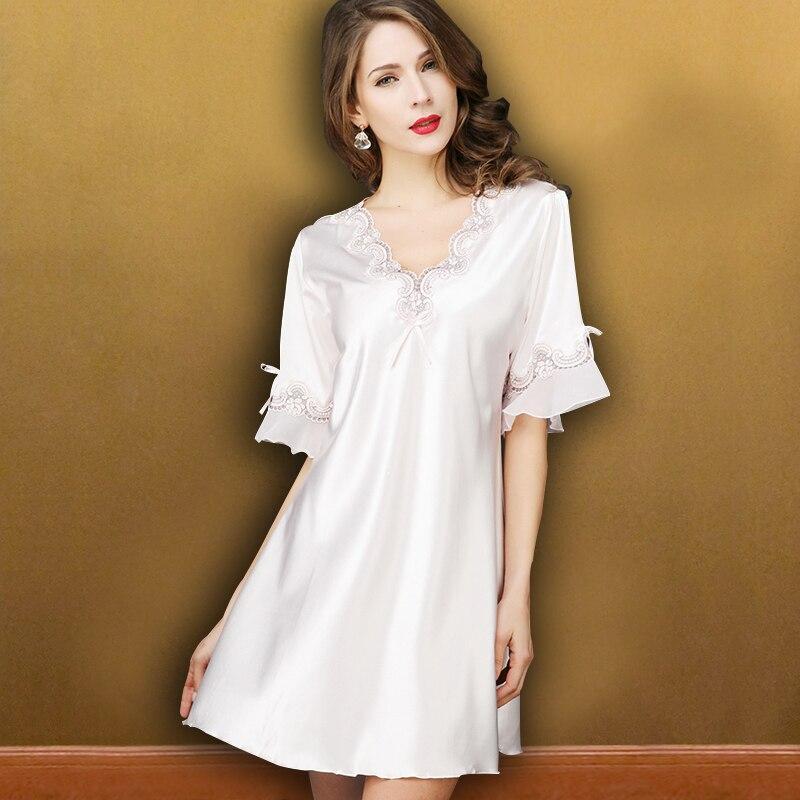 a2f316edda 2017 autumn sexy nightgowns sleepshirts women nightwear sleepwear night  dress long nightgown home dresses lace nuisette sexy cos