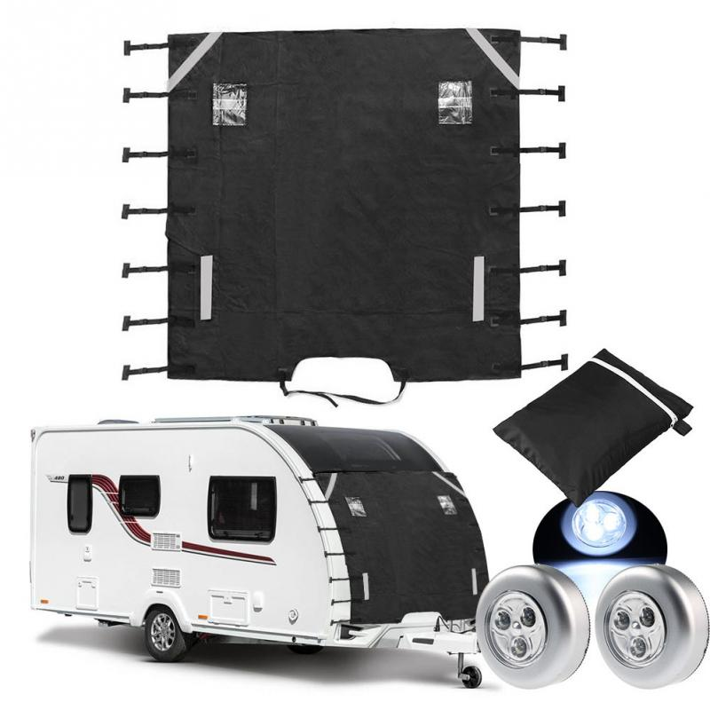 Front Towing Cover Protective Motorhome Thick With LED Light Durable Practical Anti Impact Dustproof Universal For Caravan