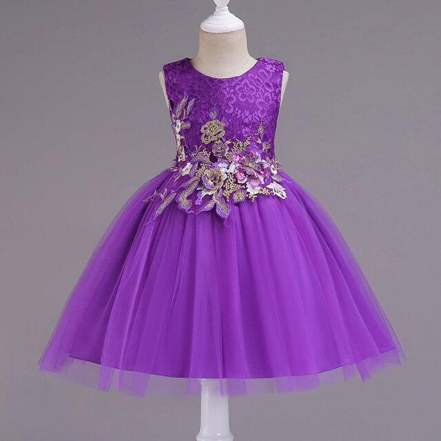 ff87a3ba7687 Girls princess Dresses 3 14 Year Girl Dress Floral Baby Flower 5 ...