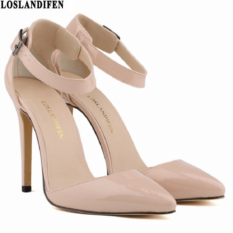 2017 fashion High Heels Patent leather Ladies Pumps spring office Sexy women Pointed Toe Shoes woman beige wedding shoes new spring summer women pumps fashion pointed toe high heels shoes woman party wedding ladies shoes leopard pu leather