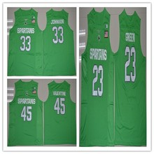 a37e04d3aa77 Michigan State Spartans College   33 Magic Johnson 23 Draymond Green 45 Denzel  Valentine Basketball Jerseys