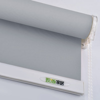 Grey Roller Blinds Curtain Drill System Office Kitchen Bed Room Solid Half Shade Window Blinds Customized Size