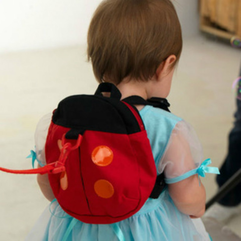 Cute Cartoon Toddler Baby Harness Backpack Leash Safety Anti-lost Backpack Strap Walker Beetles/ Bat Backpack