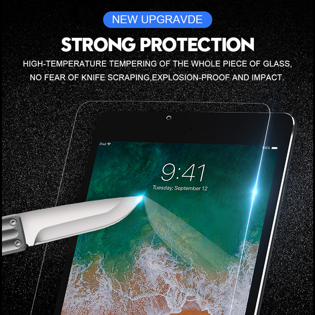 6D Curved Edge Screen Protector For iPad Pro 11 2020 10.5 Tempered Glass For iPad 10.2 2019 2017 2018 9.7 Air 1 2 3 mini 4 5 3