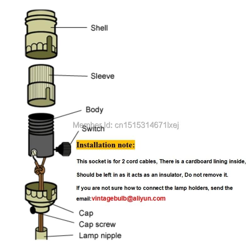 Bases da Lâmpada base de soquete de lâmpada Base Tipo : E26/e27