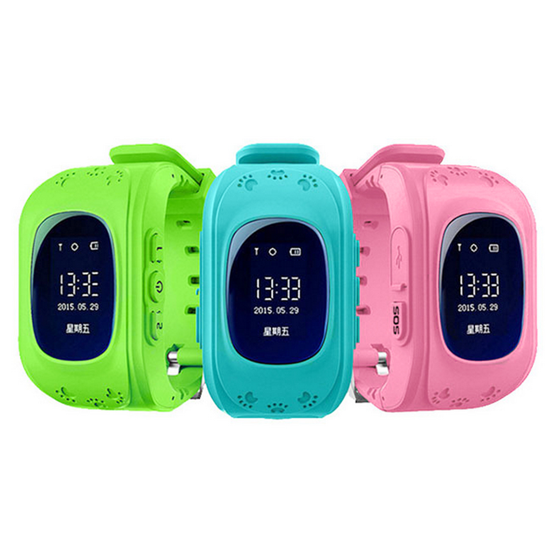 CONTECHIA <font><b>Q50</b></font> <font><b>Kids</b></font> Watches for Children SOS Call Location Finder Locator Tracker Anti Lost Monitor <font><b>Smartwatch</b></font> image