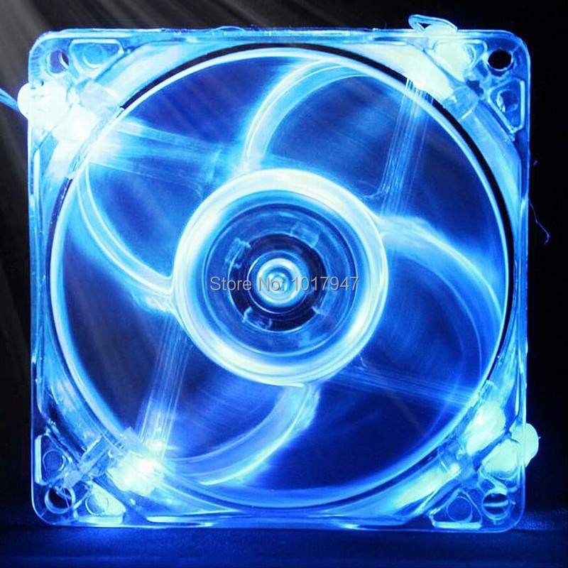 1PCS Blue Light LED Cooling Cooler Fan 140mm x 25mm DC 12V 4Pin PC Computer Case 14025S топ 525 топ