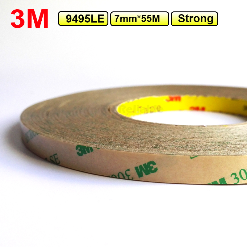 цена на 3M (7mm*55M*0.17mm) Super Strong Bond Double Sided Adhesive Clear Tape for Tablet/ Mini Pad/ Cellphone LCD Display Digitizer