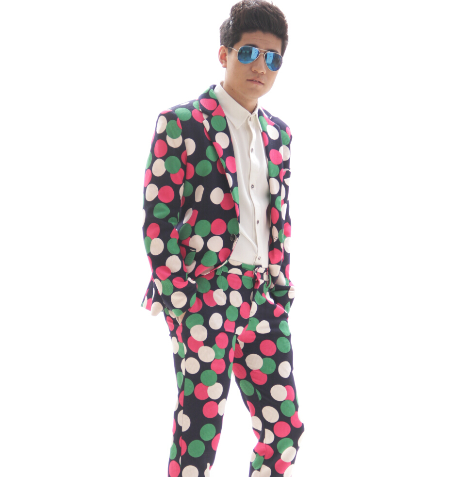 Moda De Tallas Grandes Mulitcolor Trajes Delgados Establecen Jacket Chaqueta Para Hombre Pantalones Pantalones Cantante De Baile Trajes De La Etapa Blazers Ropa En Trajes De Ropa Y Accesorios