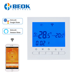 BEOK BOT-313WIFI Gas Boiler Heating Thermostat Blue&White AC220V Wifi Temperature Regulator for Boilers Weekly Programmable