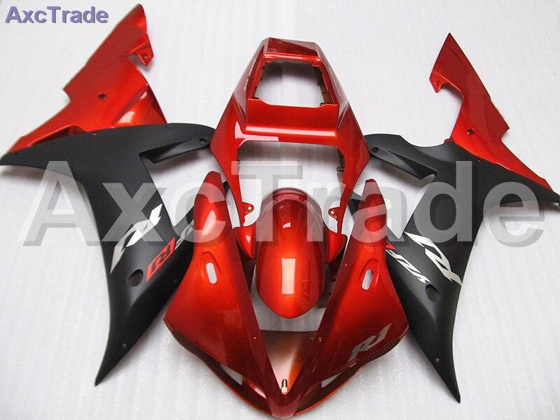 Red Black Moto Fairing Kit For Yamaha YZF1000 YZF 1000 R1 YZF-R1 2002 2003 02 03 Fairings Custom Made Motorcycle Bodywork C647