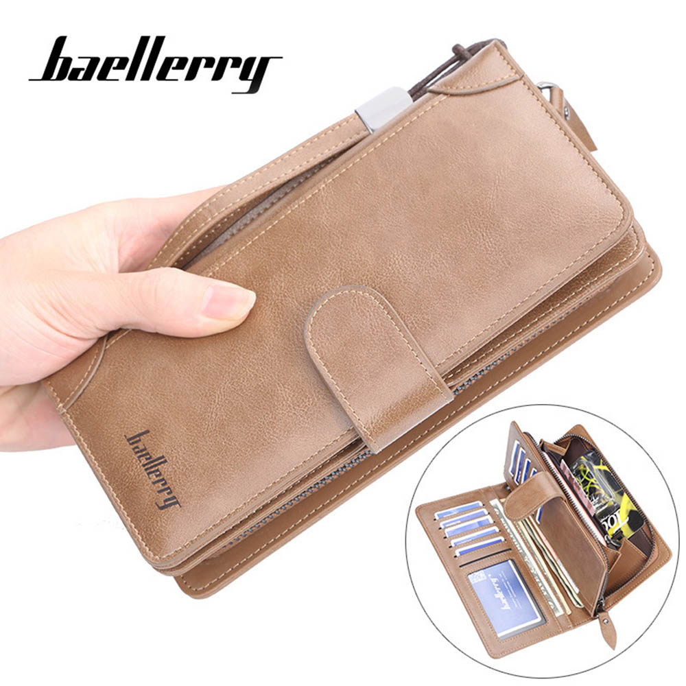 Baellerry Men Long Wallets Style Card Holder Male Purse Quality Zipper Large Capacity Big Brand Luxury Wallet For Men