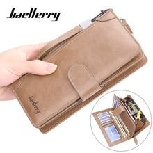Baellerry الرجال محافظ طويلة نمط حامل بطاقة محفظة الذكور جودة سستة سعة كبيرة كبيرة العلامة التجارية الفاخرة محفظة للرجال