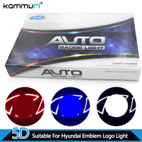 Car Styling 5D Badge Logo Light For Hyundai IX35 Sonata Tucson Santafe Genesis Coupe Verna Elantra