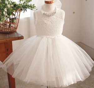 Girls White Tutu Dress