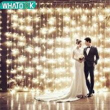 Rideau lumineux de noël, lampe à LED, guirlande lumineuse de 3M * 1M 6M * 3M, décoration intérieure, pour chambre à coucher, fête, mariage, vacances