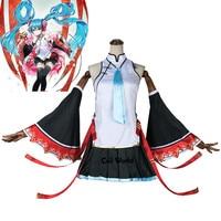Vocaloid Хацунэ Мику китайский Cheongsam платье с топом наряд аниме настроить костюмы для косплея