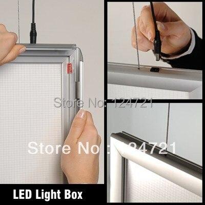 A1 Алюминиевая прижимная Рамка Крытый световой короб для рекламы алюминиевая рамка плаката