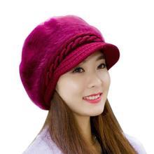 Visone e pelliccia di Volpe protezione della sfera cappello di inverno delle  donne del cappello della 876cdffdbf1f