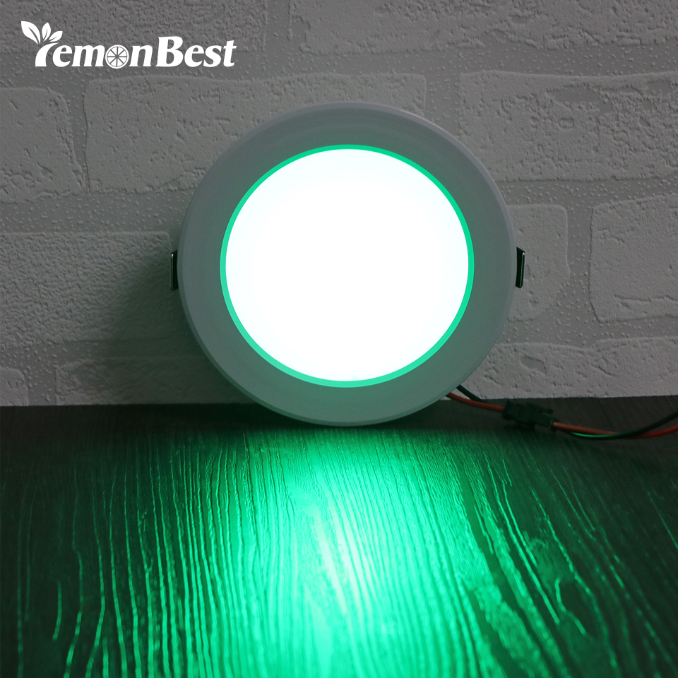 High quality with cheap price led panel light 36w 600x600 ac85 265v - Lemonbest 5w 10w Round Rgb Led Panel Light Concealed Recessed Ceiling Lamp Downlight Ac 85