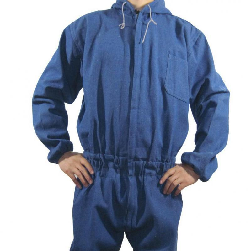 Working Safety Clothing Mens Coveralls For Repair Dustproof Cowboy Cotton Work Clothes Jumpsuit Long Sleeve High Quality M-3xl new men s work clothing reflective strip coveralls working overalls windproof road safety uniform workwear maritime clothing