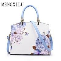 MENGXILU Fashion Cartoon Printing Women Handbags Large Capacity Women Shoulder Bags High Quality PU Leather Women