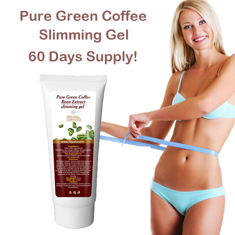 (60 days supply) FiiYoo pure green coffee bean extract weight loss cream, fat loss slimming gel burn fat for men & women natural weight loss slimming dietary supplement lotus leaf extract