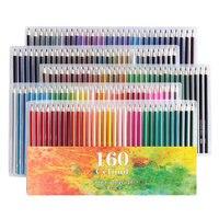Ccfoud 160 צבעים עץ עפרונות צבעוניים לפיס דה Cor שמן סקיצה עיפרון עבור בית ספר מקצועי צבע עיפרון ציור אספקת אמנות