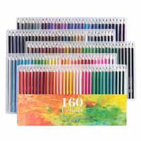 Lápices Ccfoud De 160 colores De madera lapislázuli De Cor lápiz De dibujo al óleo para escuela lápiz De Color profesional suministros De arte