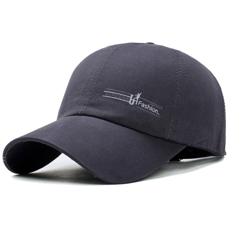 Gros Style de mode 58 60 cm hommes femmes solide 100% coton lettre Patch Baseball courbé bord chapeau réglable - 3