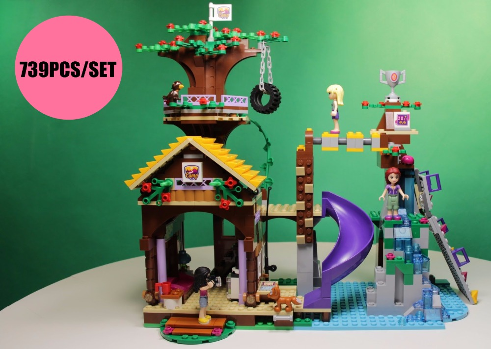 New Adventure Camp Tree House Emma Mia fit legoings Friends figures city Building block bricks 41122 diy Toy girls kid gift